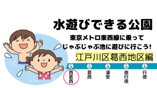 江戸川区の水遊びできる公園