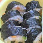 おむすびの素の混ぜご飯で海苔巻き