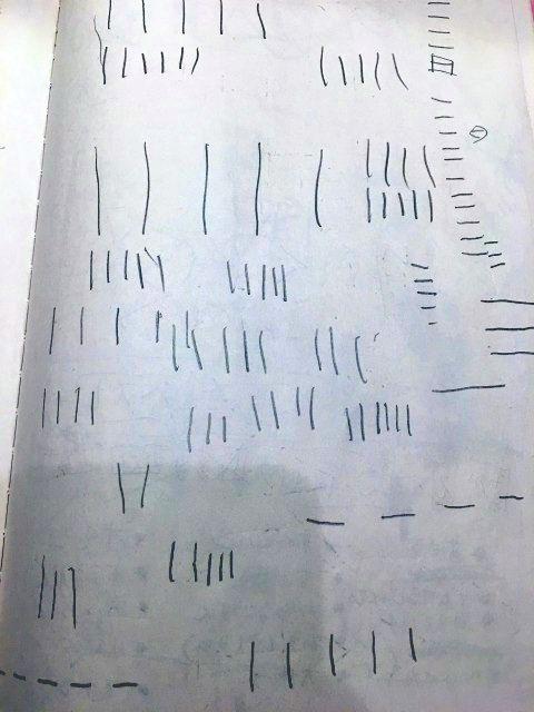 線を描く練習