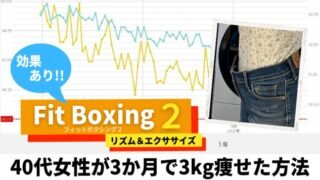 フィットボクシング2は効果あり!40代女性が3か月で3kg痩せた方法【写真付き】